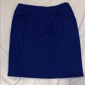 Royal blue skirt